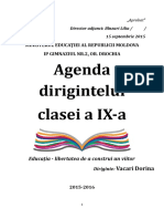 Agenda Dirigintelui Ix