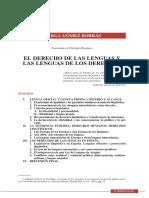 El derecho de las lenguas y las lenguas de los derechos