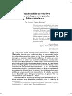 Parra Hinojosa, D - Comunicacion alternativa para la integracion latinoamericana.pdf