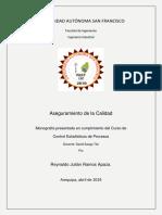 Aseguramiento de La Calidad - Reynaldo Julian Ramos Apaza