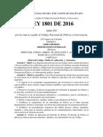 Leyes Sancionadas 1801 Del 29 de Agosto de 2016 Senado