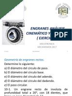 Engranes Análisis Cinemático y Selección Ejercicios