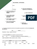 Guía Español y Ortografía