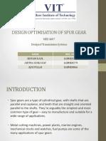 DESIGN OPTIMISATION OF SPUR GEAR - Review1.pdf