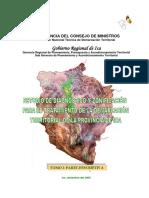 Estudio de Diagnóstico y Zonificación para el Tratamiento de la Demarcación Territorial de la Provincia de IcaEstudio de Diagnóstico y Zonificación para el Tratamiento de la Demarcación Territorial de la Provincia de Ica