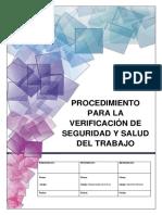 Procedimiento para la verificación de Seguridad y Salud en el Trabajo