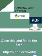 python by ranga