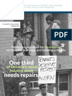 ACORN Tenant Engagement Report - Retrofits