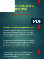 The Role of Sports in Nation Building