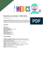 Respiratory Examination OSCE Guide