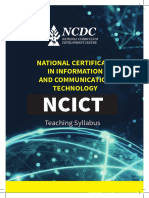 NCDC National Certificate in Ict Syllabus UBTEB Uganda