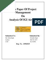 Analysis of IGI, Project Management