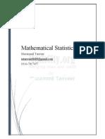 Mathematical Statistics i Muzammil Tanveer
