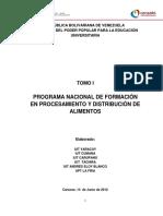 Pnf Procesamiento y Distribucion de Alimentos
