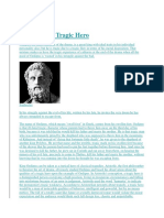 Oedipus as a Tragic Hero
