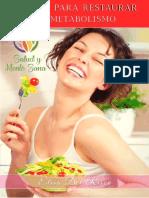 Libro Regalo 5 Pasos Para Restaurar Tu Metabolismo