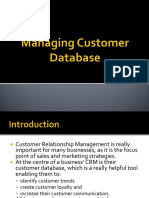 Managing Customer Database
