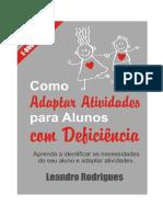 Livro Como Adaptar Atividades Para Alunos Com Deficiência