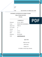 Ape Up-production Engineering 1 Course Plan
