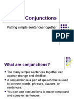 Conjunctions & sentence types presentation