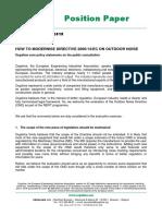 Position Paper Noise Consultation Final