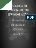 Linguagens e saberes