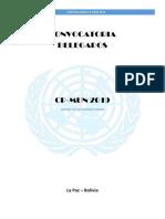 Convocatoria 2019 CP-MUN Modelo de Las Naciones Unidas