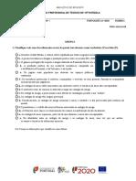 Teste de Avaliação 10º Ano Português