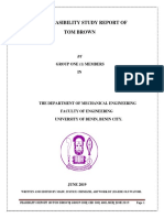 A Feasibility Report on Tom Brown(wean mix) in Nigeria-west Africa.