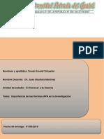 Ensayo Sobre Importancia Del Uso de Normas APA en Investigaciones