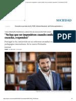 """Tiago Brandão_ """"No Hay Que Ser Impositivos_ Cuando Confías en Las Escuelas, Responden"""" _ Sociedad _ EL PAÍS"""