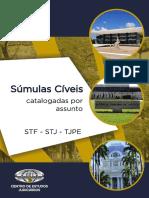 Sumulas Civeis Catalogadas Por Assunto - STF, STJ e TJPE