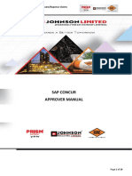 Sap Concur Approver Manual - Rmc