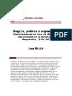 Geler Lea - Negros Pobres Y Argentinos