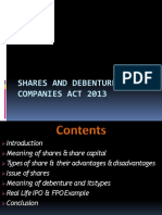 Shares and Debentures