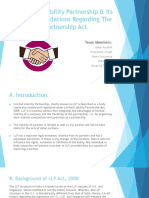 Limited Liability Partnership & Its Recommendations Regarding The