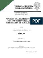 Análisis y Carecterización Del CdSe Nanoestructurado Por Microscopia de Tunelamiento