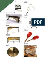 Instrumentos de Percusión de Cuerda y Viento