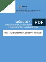 TEMA 1.1 Esquizofrenia. Conceptos Generales