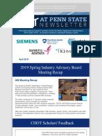 April 2019 CHOT Newsletter