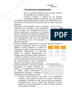 Tipos de Estructuras Organizacionales -