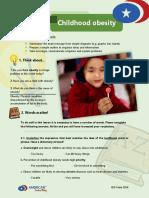 b1 Writing Assessment 5 Childhood Obesity