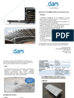 Ficha Tecnica Teja Termoacustica Ceja Alta 2,3mm Dam Group