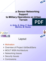 Wireless Sensor Networking Support to Military Operations in Urban Terrain