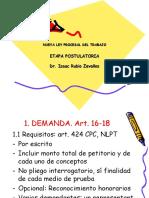 3 Etapa postulatoria