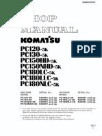 komatsu pc 120 150 180