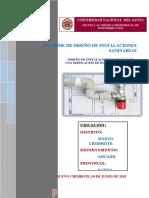 Informe de Diseño de Instalaciones Sanitarias