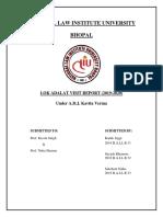 Lok Adalat Report