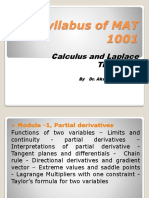 Syllabus of MAT 1001 for First Lectuure