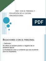 Relaciones Con El Personal y Evaluación de La